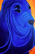 Abstract Of Dogs Mixed Media - Bloodhound-  BLUEBLOOD II by Laura  Grisham