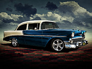 Custom Automobile Digital Art Posters - Blue 56 Poster by Douglas Pittman