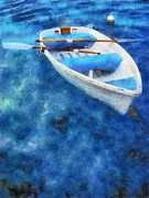 Jenny Rainbow - Blue and White. Lonely Boat....