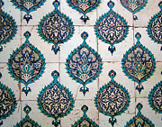 Topkapi Prints - Blue Mosque Tiles Print by Alexandra Jordankova