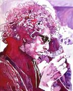 Rock Music Prints - Bob Dylan Print by David Lloyd Glover