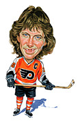  Hockey Painting Framed Prints - Bobby Clarke Framed Print by Art  