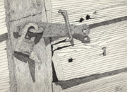 Rusty Drawings - Bodega Lock by Pat Price