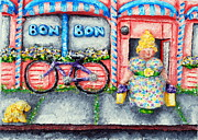 Lady Reliefs Metal Prints - Bon Bon Betty Metal Print by Alison  Galvan