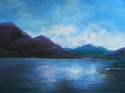 Evening Light Pastels Prints - Bonny Scotland  Print by Ruth Scott