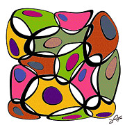 Polychromatic Prints - Boobles 4 Print by Jann Paxton