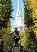 Boston Acrylic Prints - Boston - Paul Revere by Kathy Dahmen