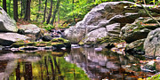 Lakes - Streams - Waterfalls - Boulders along Enders Brook 2 by Albert Seger