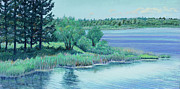 Shoreline Pastels Prints - Bowstring Blues Print by David Bratzel