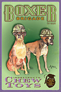 Army Pastels - Boxer Brigade Chew Toys by Amelia Hunter