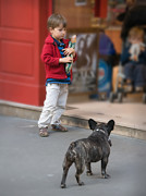 Paris Photos - Boy in Paris Guarding Bread by Kent Sorensen
