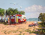 Retro Caravan Paintings - Boys Will Be Boys by Michael Jones