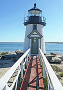 Brant Point Art - Brant Point Lighthouse by Becky Lodes