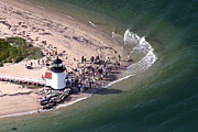 Aerial Photography On Nantucket Framed Prints - Brant Point Lighthouse Nantucket Massachusetts Framed Print by Duncan Pearson