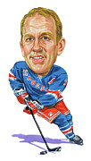 New York Rangers Painting Prints - Brian Leetch Print by Art