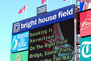 Phillies - Brighthouse Field Clearwater Framed Prints - Bright House Field Framed Print by Carol Christopher