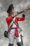 Randy Steele - British Redcoat Firing Musket Portrait