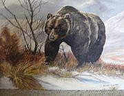 Anne-Elizabeth Whiteway - Brown Bear on Snowy Mountain Top