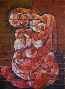 Breastfeeding Paintings - Brownstone Madonna by Harold Bascom