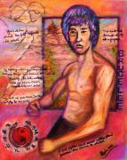 Regina Brandt Metal Prints - Bruce Lee - Be Like Water Metal Print by Regina Brandt