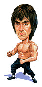 Martial Arts Prints - Bruce Lee Print by Art