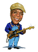 Music Framed Prints - Buddy Guy Framed Print by Art