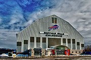Buffalo Bills Prints - Buffalo Bills Fieldhouse Print by Guy Whiteley