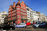 Traffic Photo Prints - Busy street corner in London Print by Elena Elisseeva