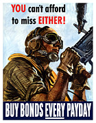 United States Government Prints - Buy Bonds Every Payday Print by War Is Hell Store
