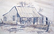 Cabin Drawings - Cabin in Castroville by Bill Joseph  Markowski