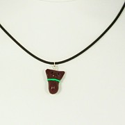 Valentine Jewelry - Calorie-Free Chocolate Mint Truffle Kitty Necklace by Pet Serrano