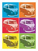 Michael Tompsett - Camper Van Pop Art