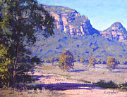 Rural Scenes Paintings - Capertee Valley Australia by Graham Gercken