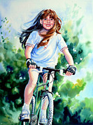 Mountain Bike Paintings - Carefree Summer Day by Hanne Lore Koehler