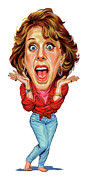 Laughing Painting Prints - Carol Burnett Print by Art  