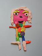 Child Sculpture Prints - Caroline Print by Marwan George Khoury