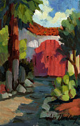Spanish House Paintings - Casa Tecate Gate by Diane McClary