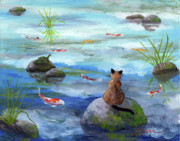 Laura Iverson - Cat Koi and Turtle Among the Cloud...