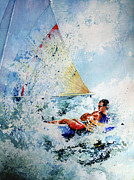Water Sports Print Posters - Catch The Wind Poster by Hanne Lore Koehler