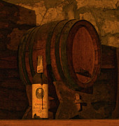 Wine Cellar Photos - Cellared Cask by Michael Mischley