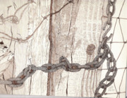 Rusty Drawings - Chained Closed by Pat Price