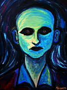 The Blue Face Paintings - Chaos Portrait Of A Man by Pristine Cartera Turkus