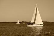 Suzanne Gaff - Charleston Harbor in sepia