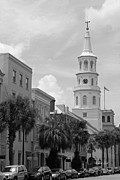 Suzanne Gaff - Charleston Street Scene in Black and...