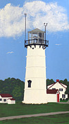 New England Lighthouse Painting Prints - Chatham Lighthouse Tower Print by Frederic Kohli