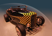Grand National Roadster Show Posters - Checkered Past Poster by Bill Dutting