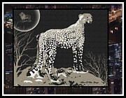 Cheetah Digital Art Framed Prints - Cheetah Framed Print by Sherri  Of Palm Springs