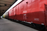 Chicago Photography Originals - Chicago Burlington Quincy Freight Cars by Paul Cannon