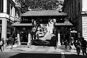 Wingsdomain Art and Photography - Chinatown Gate In San Francisco . bw ....
