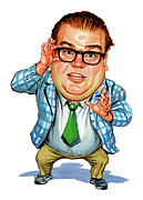 Art  Prints - Chris Farley as Matt Foley Print by Art